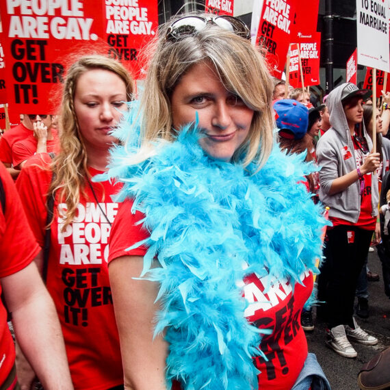 Event photography - London and beyond:Portrait photography news and features: Marchers at Pride London.