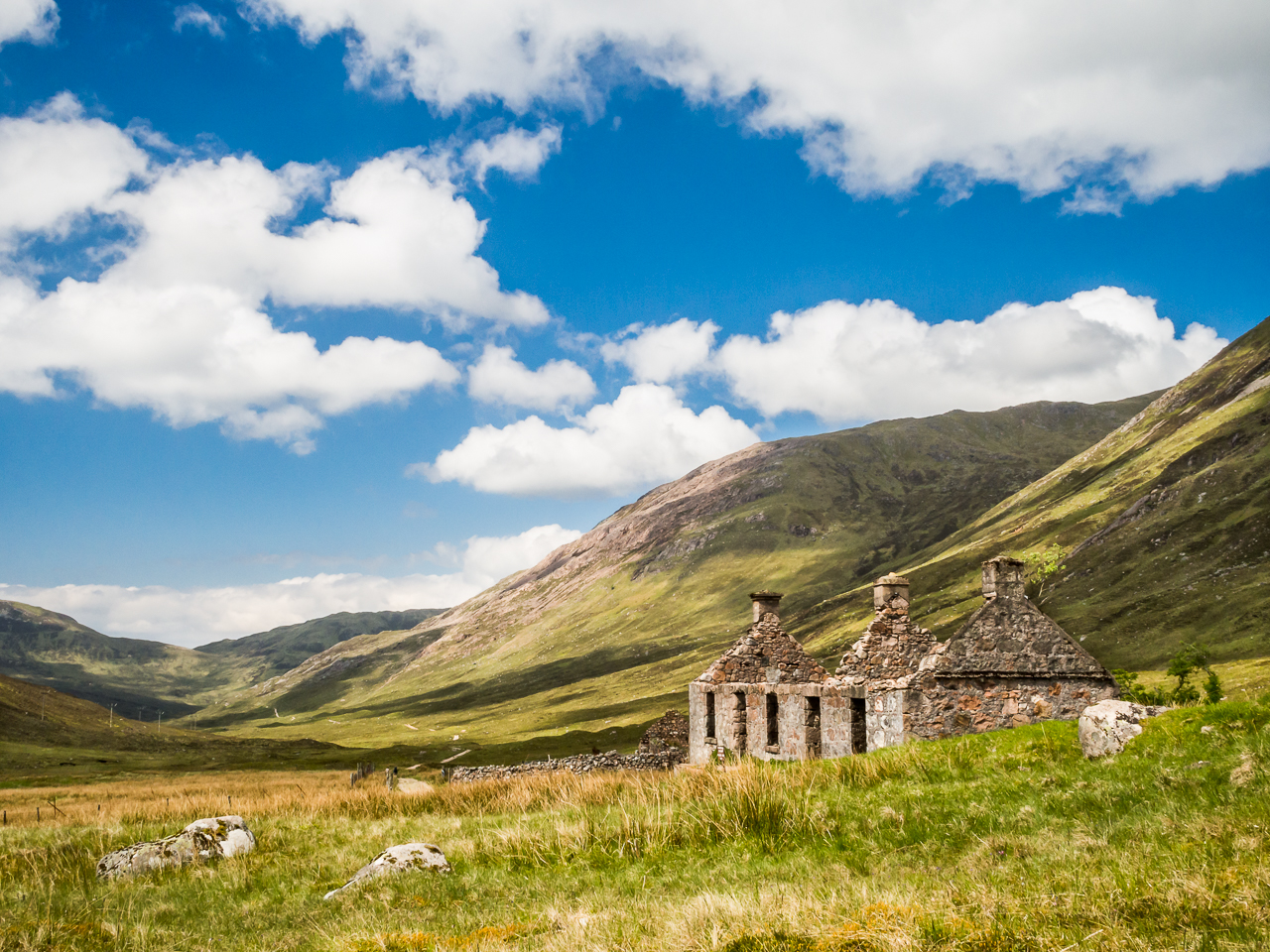 Lairigmor, a disused farm on the West Highland Way.