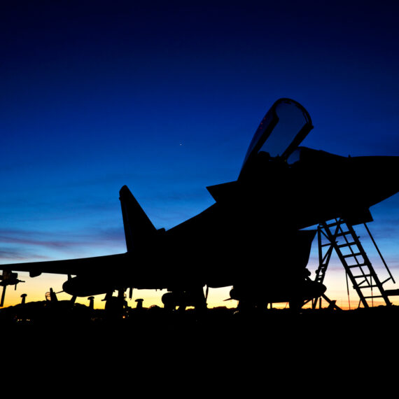 Military photography: Sunset Typhoon