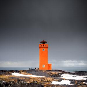 Svörtuloft Lighthouse, Öndverðarnes, Iceland.