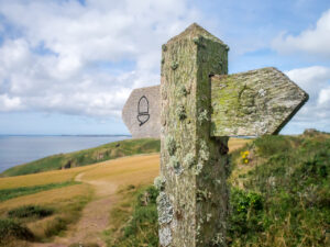 National Trails sign on the Pembrokeshire Coast Path
