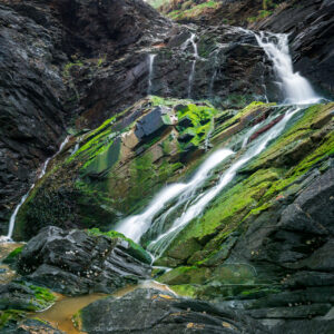 Waterfall photography by Andy Wasley: A waterfall near Port Isaac, Cornwall.