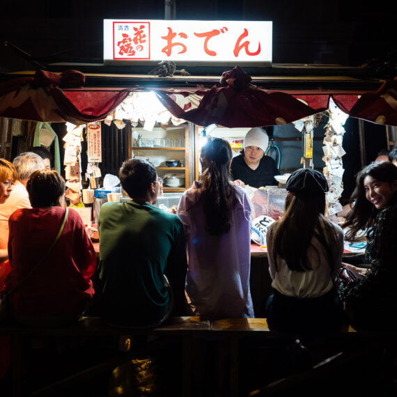 Japan travel photography: Yatai food stalls in Fukuoka, Japan.
